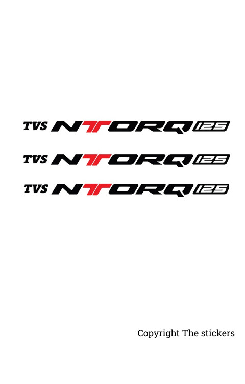 TVS Ntorq Logo Stickers 3pc - The stickers