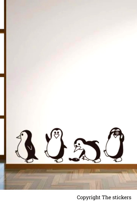 Wall graphics Penguin Design All sell Black- The stickers