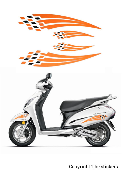 Honda Activa Graphics Red Color - The stickers