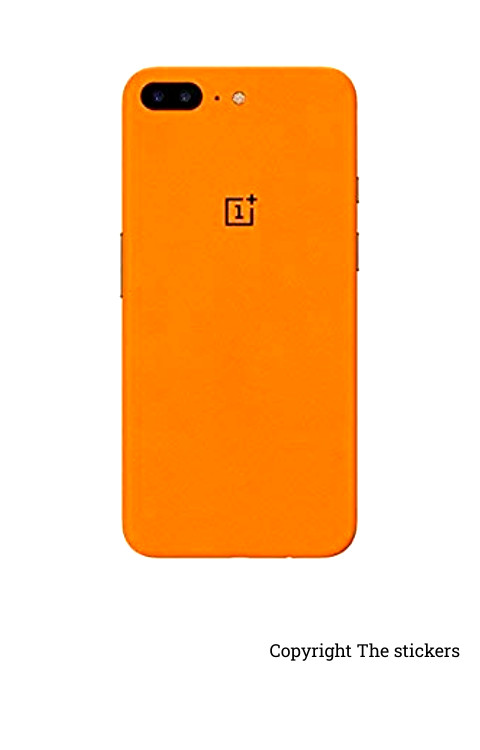 Oneplus wrapping paper matte orange with logo  - The stickers