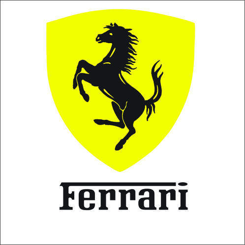 Ferrari car logo Graphics 2.50x2.50inch - The stickers