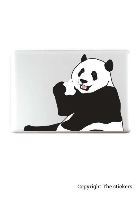 Panda graphics matte black for any Laptop - The stickers