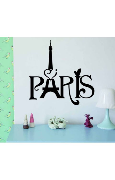 Paris tower Wall stickers 80cm x 110cm matte black - The stickers