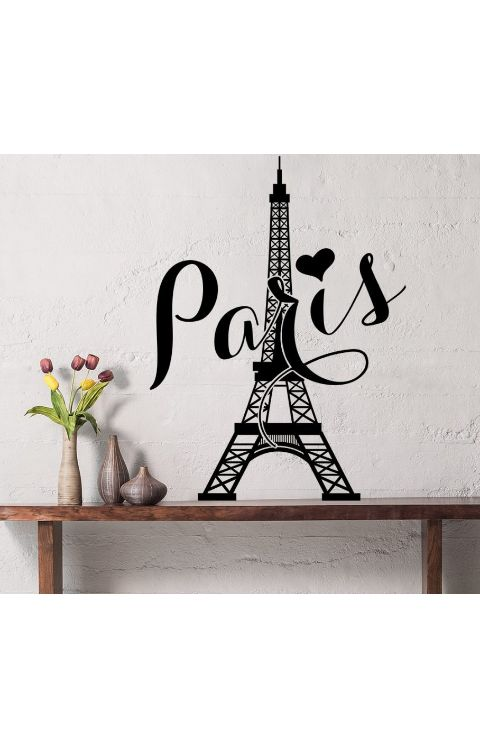 Paris tower Wall stickers 110cm x 80cm matte black - The stickers