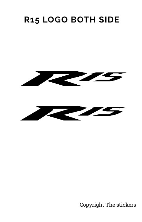 Yamaha R15 Logo Sticker Matte Black Both Side - The stickers