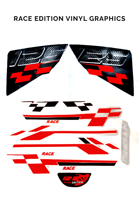 TVS Ntorq Race Edition Stickers,Race Edition Full Graphics - The stickers