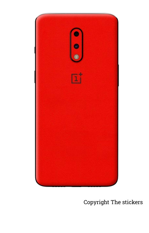 Oneplus wrapping paper matte red with logo  - The stickers