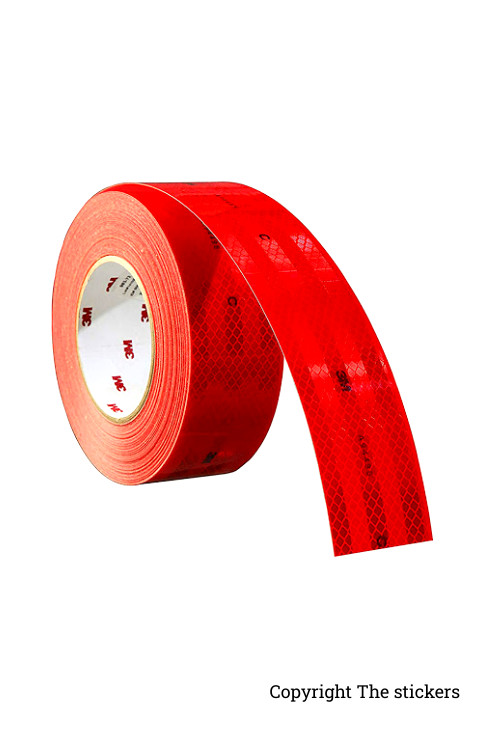3M High Quality Retro Radium Tape Red (2inch x 5ft) - The stickers
