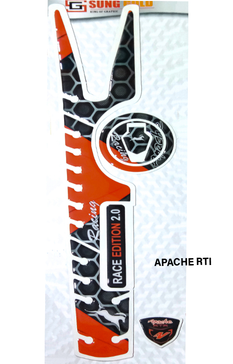 TVS Apachae RTR 200/180 Full Tank Pad - The Stickers