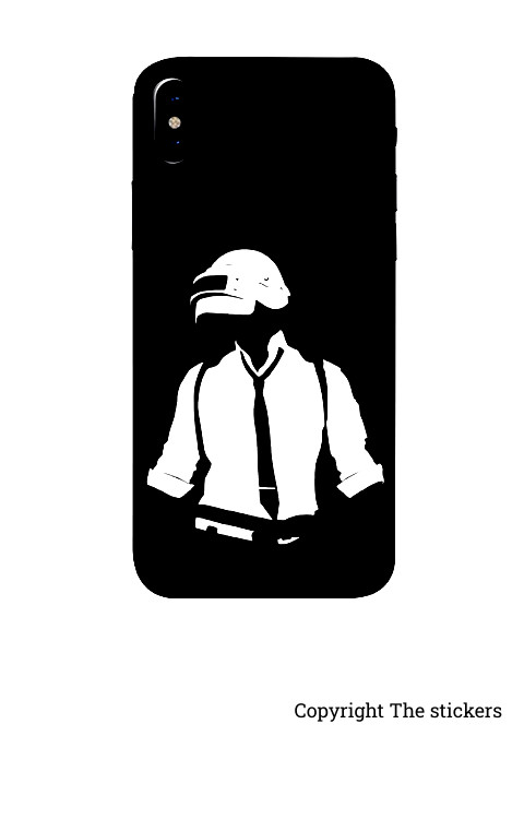 Mobile wrapping Paper Matte Black with PUBG Graphics for Redmi, Realme, Oppo, Vivo,Honor - The stickers