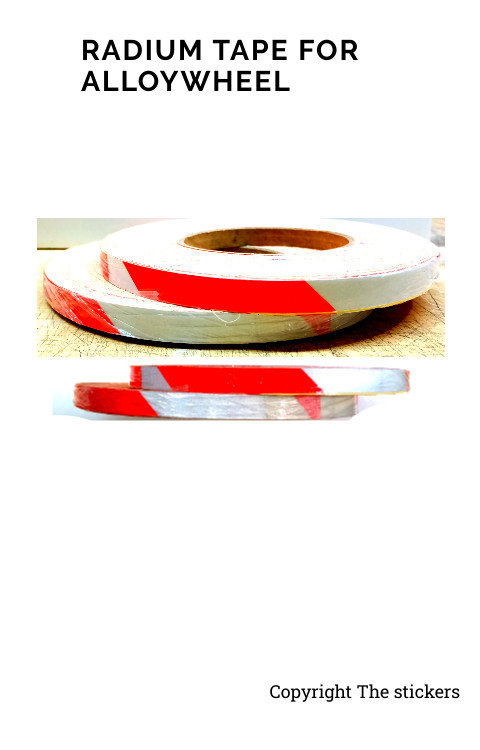 Radium Tape For Bike Alloywheel White and Red - The stickers