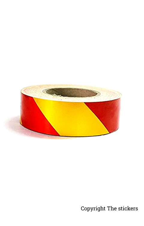 High Quality Radium Tape Red and Yellow (2inch x 5ft) - The stickers