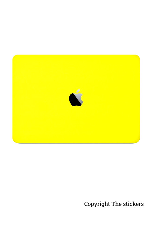 Macbook Pro Wrapping paper for any Laptop shining yellow with Apple logo - The stickers