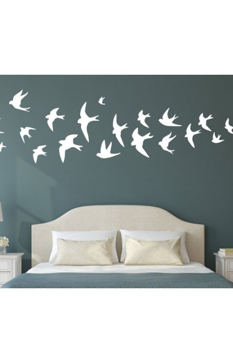 Wall stickers birds 2 x 2ft.(lxb) full set - The stickers