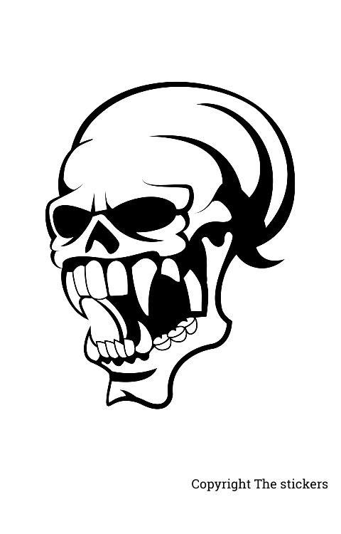 Scull head stickers for bike&car 5.0x5.0inch - The stickers