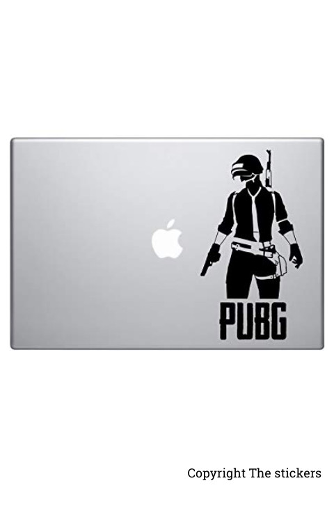PUBG Logo stickers Black for mobile, laptop and bike - The Stickers