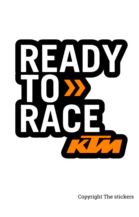 KTM Title Sticker - Ready to race for Bike - The stickers