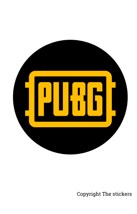 PUBG Logo stickers Yellow with Black 2.0x2.0 inch 3pcs - The Stickers