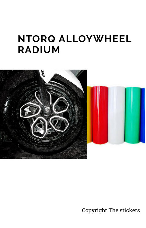 Ntorq Alloywheel Radium Stickers All Colors - The stickers