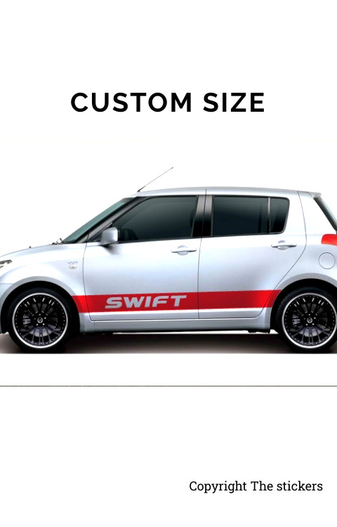Swift Car door Graphics Red Free Size - The stickers
