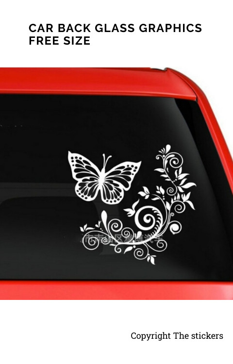 Car Back Glass Graphics Custom Colors - The stickers