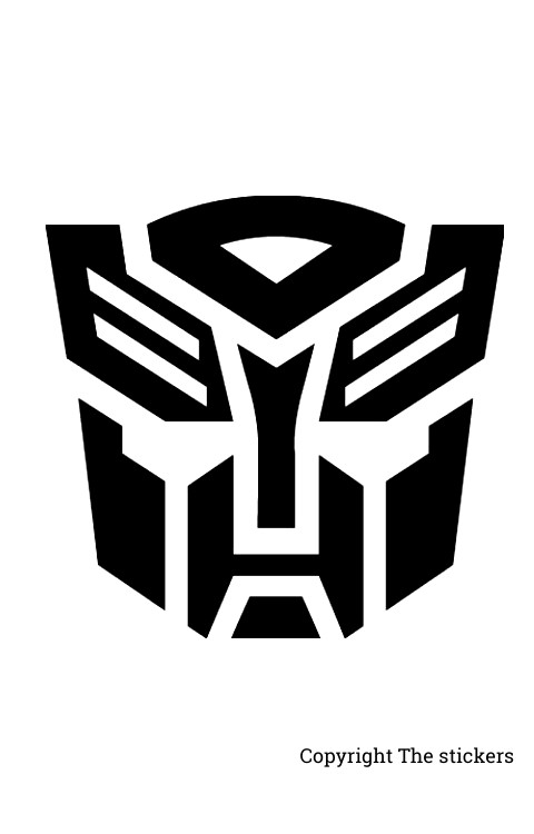 Transformers head for bike headlight, Mobile and Laptop -The stickers