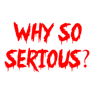 Why so serious stickers 2.0x3.0inch 2pc- The stickers
