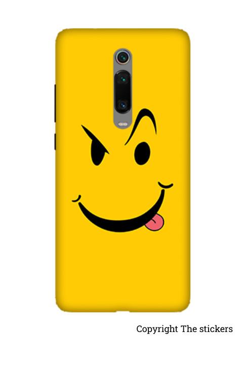 Smile Emoji Mobile skin Matte yellow for Redmi, Realme, Oppo, Vivo,Honor - The stickers