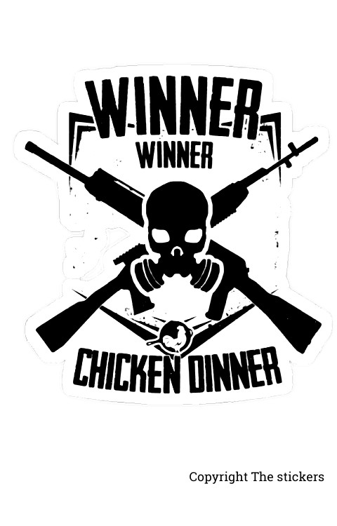 Winner Winner Chicken Dinner PUBG Stickers 2.0 x 3.5inch - The Stickers