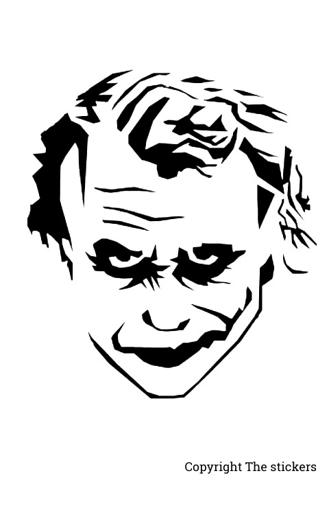 Joker face with White 4.0x4.0inch - The stickers