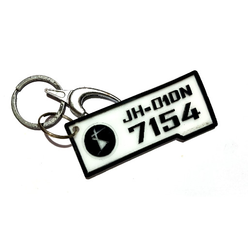 Acrylic Number Key Ring - The stickers